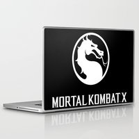 mortal instruments Laptop & iPad Skins featuring Mortal  ombat x by Eirarose