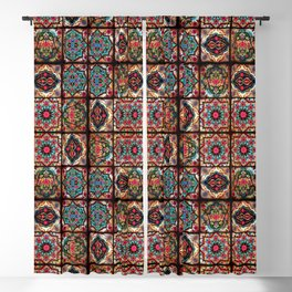 (N3) Epic Vintage Original Moroccan Artwork. Blackout Curtain