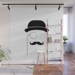 Stylized Gentleman Black Wall Mural