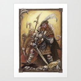 The Legendary Pirate Cap'n Redbeard Art Print