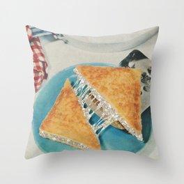 Grilled Glitter Sandwich Throw Pillow