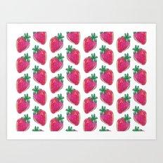 Strawberry Gold Art Print
