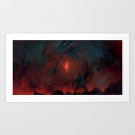 The Bleeding Rose Art Print