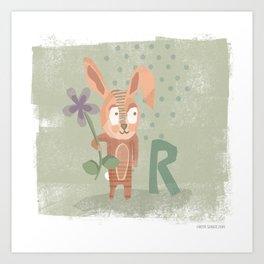 """R"" Art Print"
