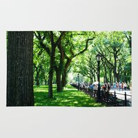 literary Area & Throw Rugs featuring Literary Walk at Central Park, New York City   by Lissette