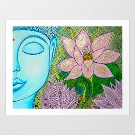 Blueddah Art Print