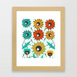 Prickly flowers Framed Art Print