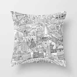 Buenos Aires Map Throw Pillow
