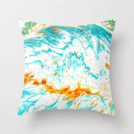 Waves of Thought #abtsract #painting Throw Pillow