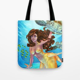 Hawaiian Mermaid Tote Bag