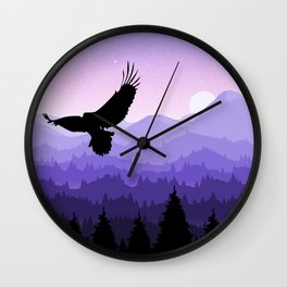 Eagle Skyline Wall Clock