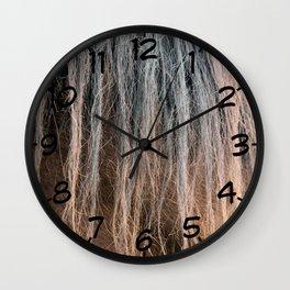 Horse's mane close-up Wall Clock