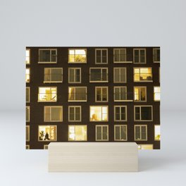 Modern apartment at night Mini Art Print