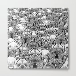 Animal Crowd Metal Print