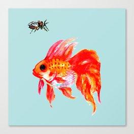 Goldfish and Cicada Canvas Print