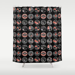 top pattern II Shower Curtain