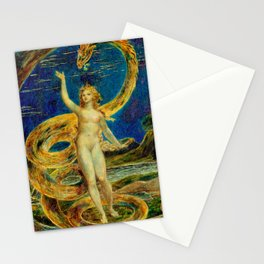 """Blake's """"Eve Tempted by the Serpent"""" Stationery Cards"""