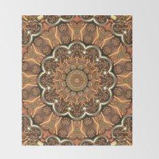 Molten Copper Mandala Throw Blanket