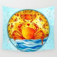 cancer Wall Tapestries featuring Cancer by Sandra Nascimento