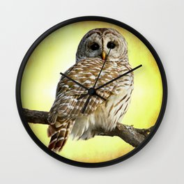 She sees right into the heart of me Wall Clock
