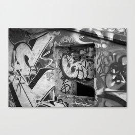 Urban graffiti Miami Abandoned Marina Stadium in Key Biscayne Canvas Print
