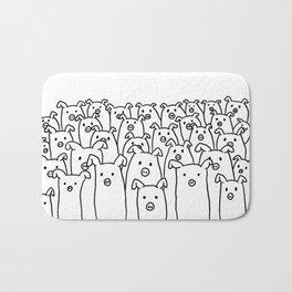 Fun Line Piggy Pattern Bath Mat