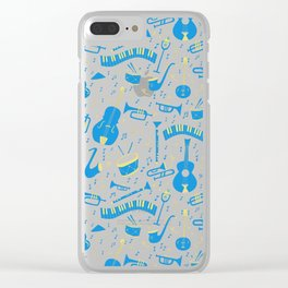 The Spirit of Jazz Pattern Clear iPhone Case