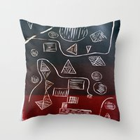 triforce Throw Pillows featuring Triforce by Lewis Lawton