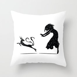 The Chase - The Other Side of Eve Throw Pillow