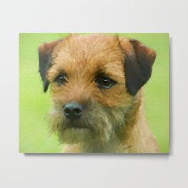 Border Terrier Pup Art Print Metal Print