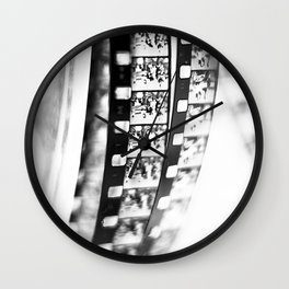 film BW Wall Clock