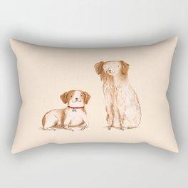 Brittany Spaniels Rectangular Pillow