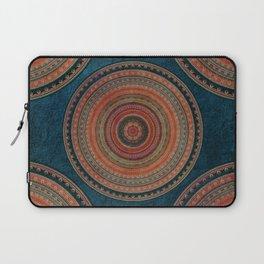 Earth Tone Colored Mandala Laptop Sleeve