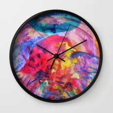 psychedelic angel corpes Wall Clock