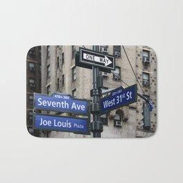 New York City Street Names Bath Mat