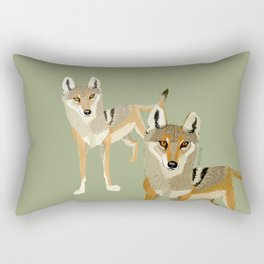 Wolves of the World: Canis lupus pallipes (c) 2017 Rectangular Pillow