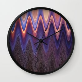 Sunset Trees in Abstract Wall Clock