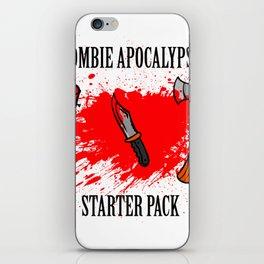 Zombie apocalypse - starter pack iPhone Skin