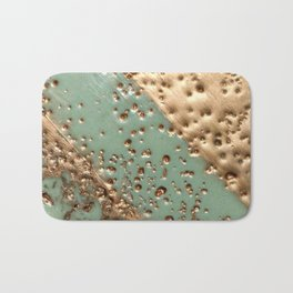 Melting Gold - Encaustic painting on stone Bath Mat