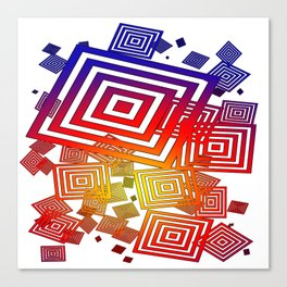 vector squares white Canvas Print