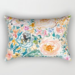 SMELLS LIKE GLORIOUS IMPERFECTION Floral Rectangular Pillow
