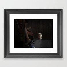 She Waited All Night Framed Art Print