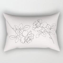 Roses illustration - Delia I Rectangular Pillow