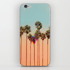 Glitch beach iPhone Skin