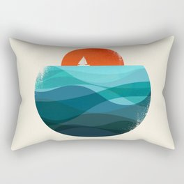 Deep blue ocean Rectangular Pillow