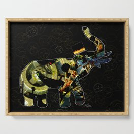 Steampunk Elephant, Scanography Art Serving Tray