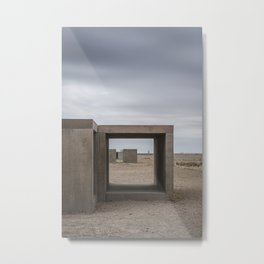 Donald Judd's Box Sculptures at The Foundation in Marfa, Texas Metal Print