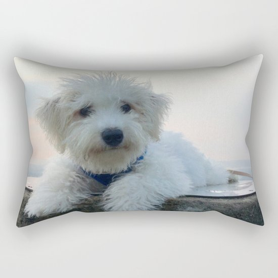Teddy At Sunset Rectangular Pillow