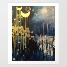Rain Spell Original Painting by Rachael Rice Art Print