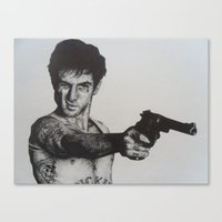 taxi driver Canvas Prints featuring TAXI DRIVER by waynemaguire777